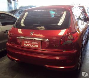 Peugeot 207 XR  flex completo vermelho