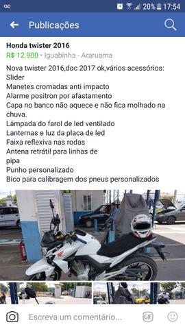 Nova twister Honda,  - Motos - Araruama, Rio de Janeiro | OLX