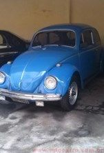 Volkswagen Fusca P Azul Gasolina