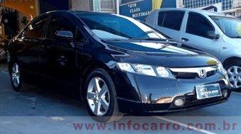 Honda Civic SEDAN LXS  FLEX 16V AUT. 4P P Preto